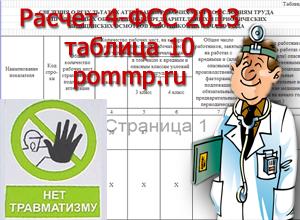 расчет 4-ФСС 2013
